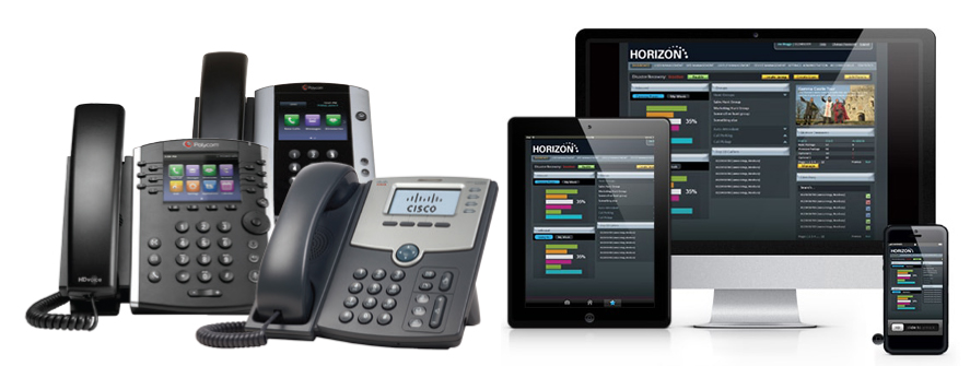 Horizon hosted phone system trio telecom