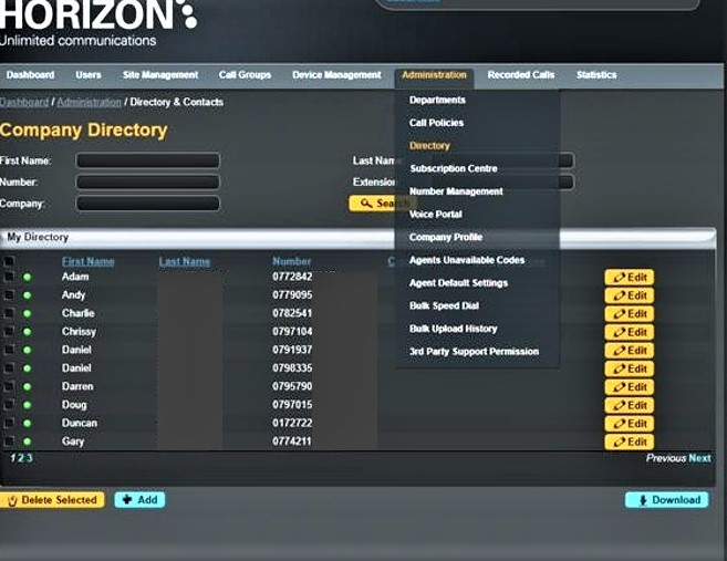 Top Tip 6 - Horizon Directory for your Business Contacts - Trio Telecom